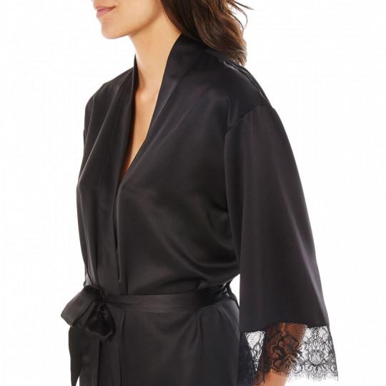 Kimono noir Dallas - vue 2
