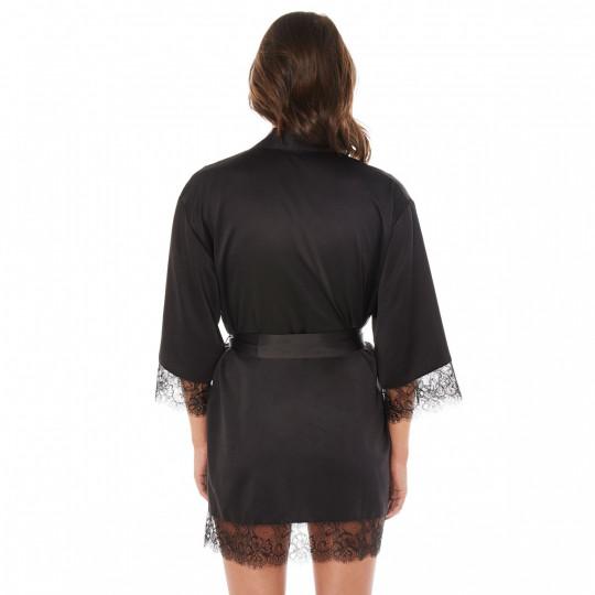 Kimono noir Dallas - vue 3
