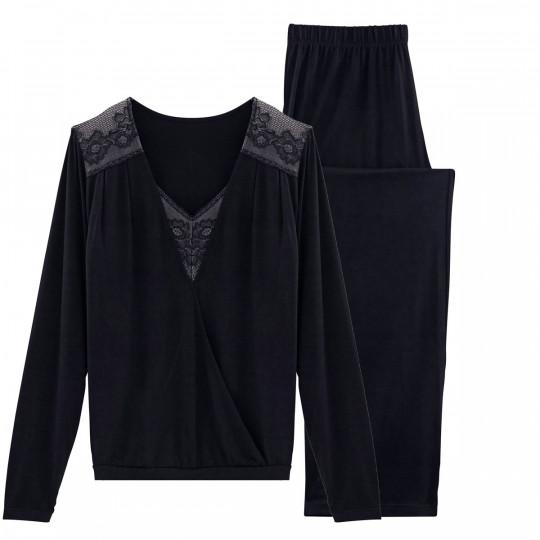 Pyjama noir Hymne à L'Amour - vue 0