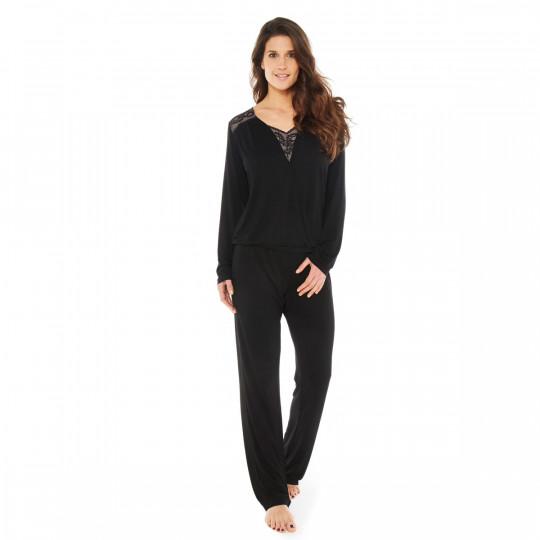 Pyjama noir Hymne à L'Amour - vue 1