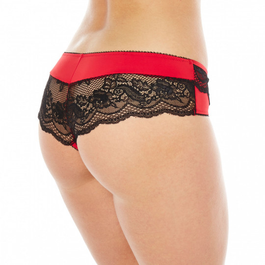 Shorty string noir/rouge SOS - vue 2
