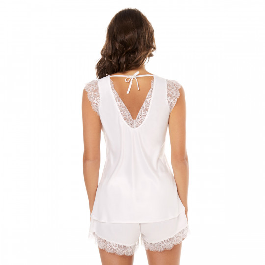 Top + short ivoire Dallas - vue 2
