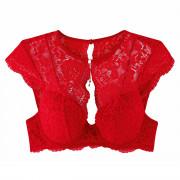 Soutien-gorge ampliforme coque moulée rouge Feu Aux Poudres