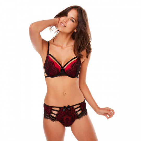 Shorty tanga noir/rouge La Bamba
