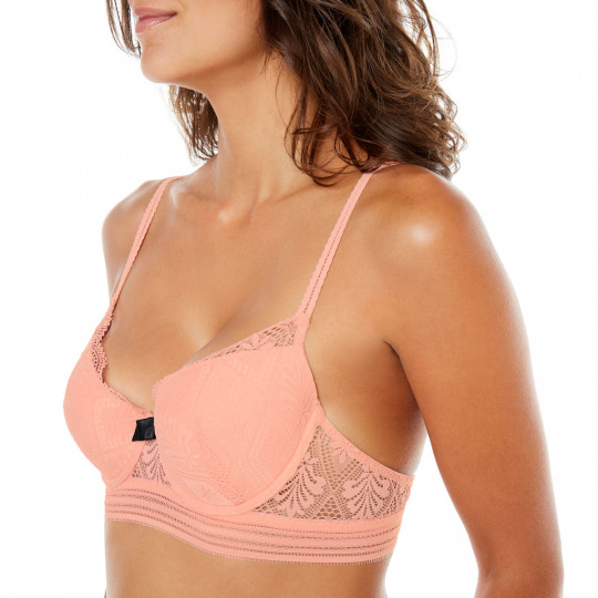 Soutien-gorge ampliforme coque moulée terracotta Love Power