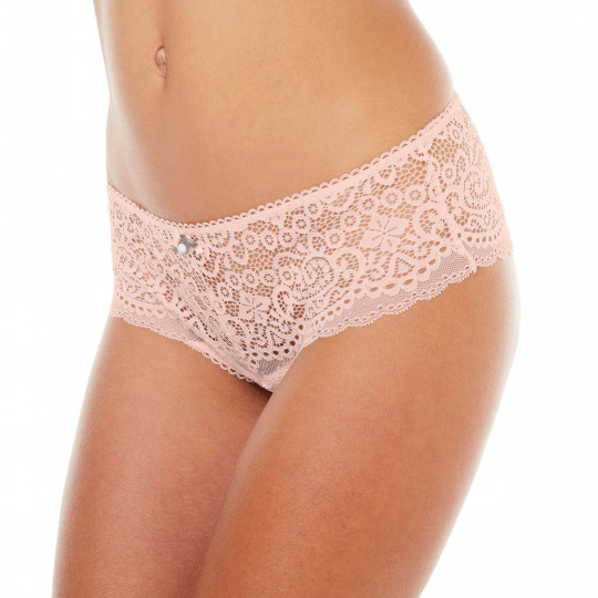 Shorty tanga rose poudre Tapageuse - vue 1