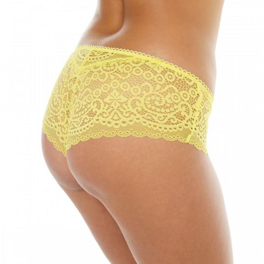 Shorty tanga  jaune Tapageuse - vue 2