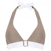 Haut de maillot triangle taupe/ivoire Plage by Brigitte Bardot