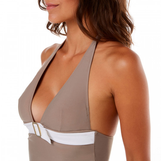 Tankini taupe/ivoire Plage by Brigitte Bardot - vue 2
