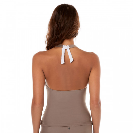 Tankini taupe/ivoire Plage by Brigitte Bardot - vue 3