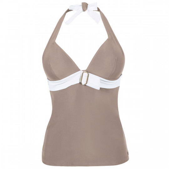Tankini taupe/ivoire Plage by Brigitte Bardot - vue 0