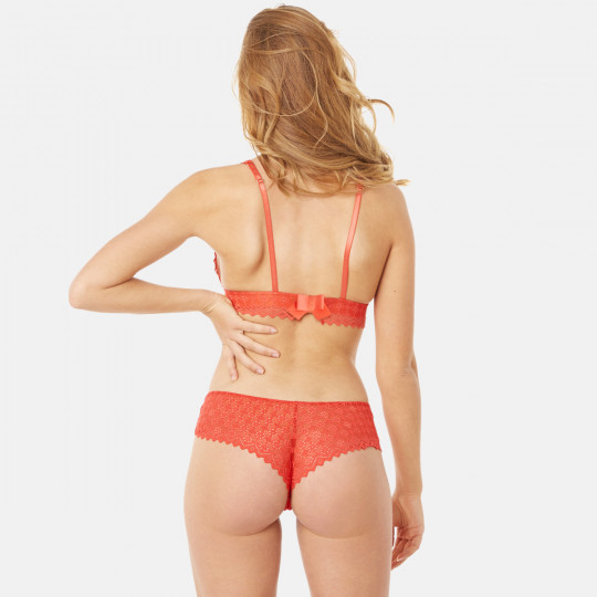 Soutien-gorge triangle sans armatures orange Culottée