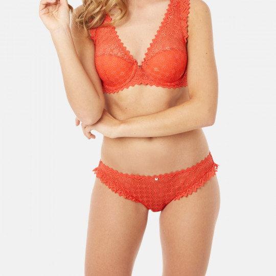 Culotte orange Culottée