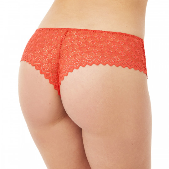Shorty tanga orange Culottée - vue 2