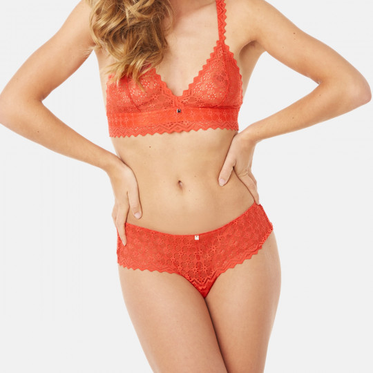 Shorty tanga orange Culottée