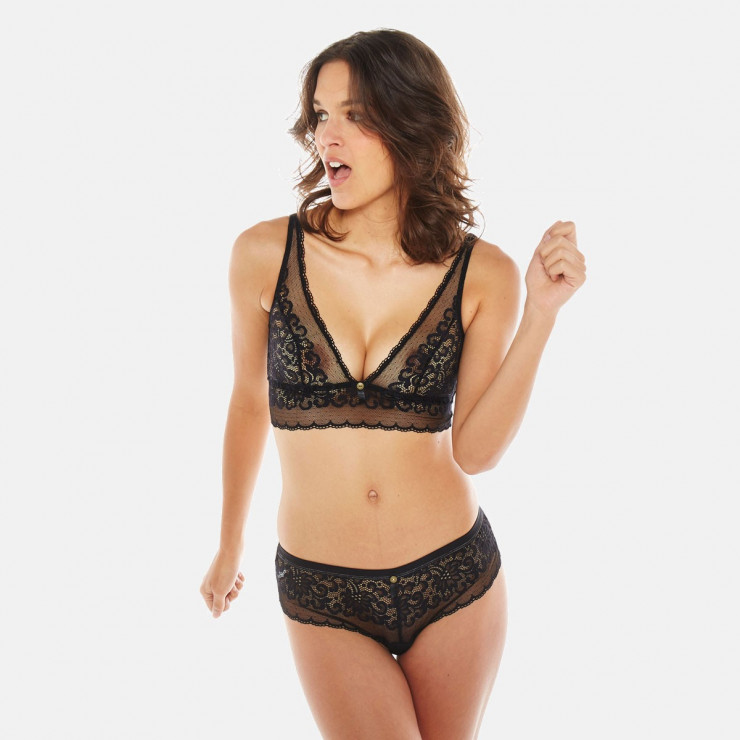 Soutien-gorge triangle sans armatures noir Happy Hour