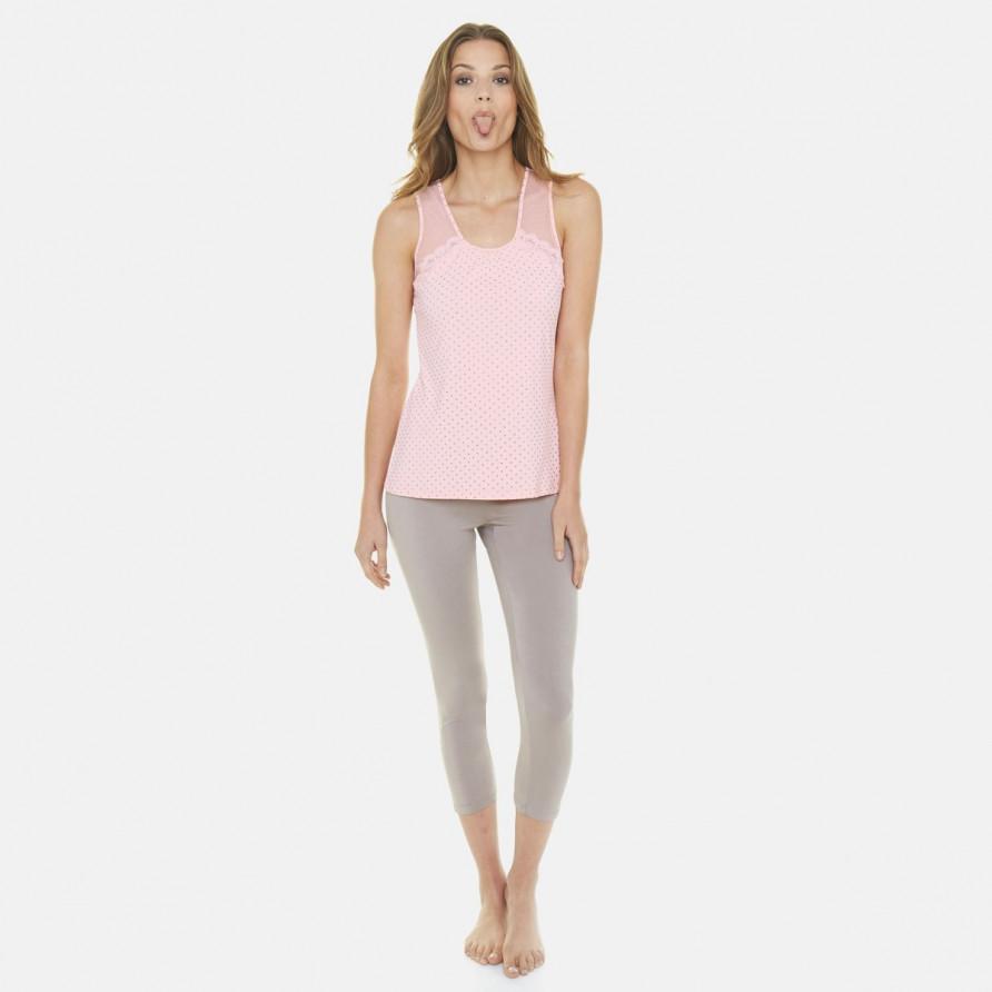 Pyjama poudre/cuivre Flamingo