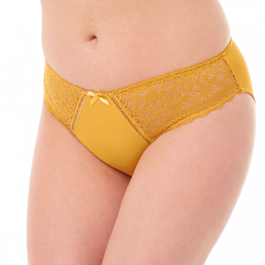 Culotte jaune moutarde Elena - vue 1