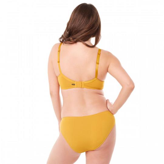 Soutien-gorge grand maintien C, D et E jaune moutarde Elena - vue 3