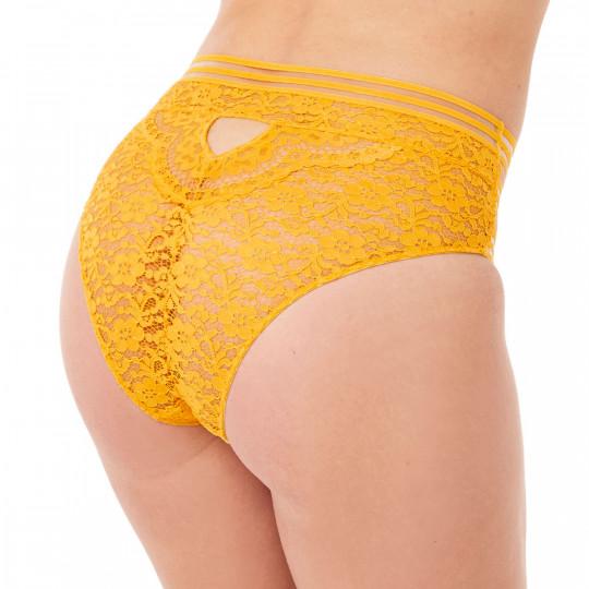 Culotte haute jaune Pétillante - vue 2