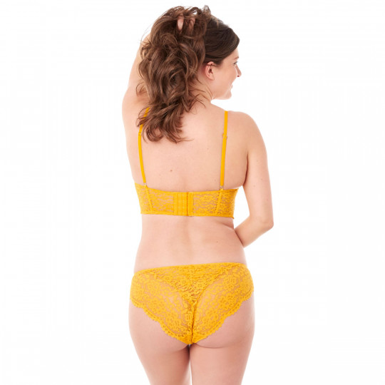 Soutien-gorge corbeille jaune Pétillante - vue 3