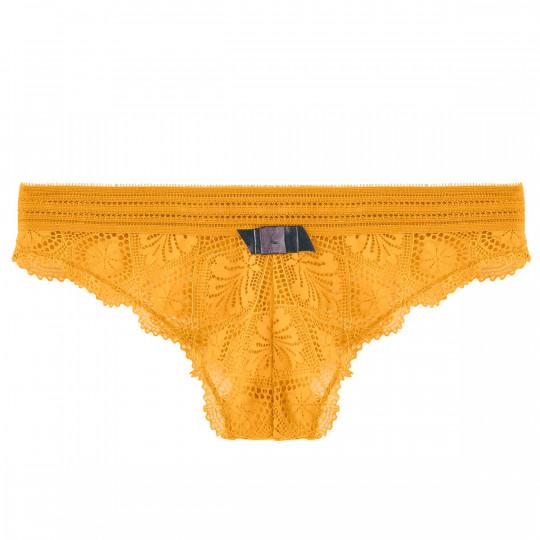 Tanga jaune Love Power