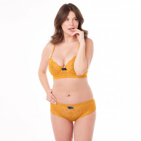 Soutien-gorge corbeille jaune Love Power - vue 2