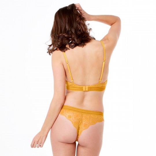 Soutien-gorge ampliforme coque moulée jaune Love Power - vue 3