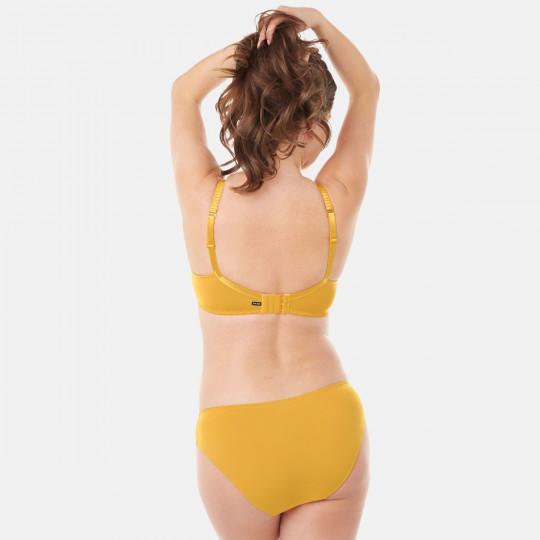 Soutien-gorge grand maintien C, D et E jaune moutarde Elena - vue 5
