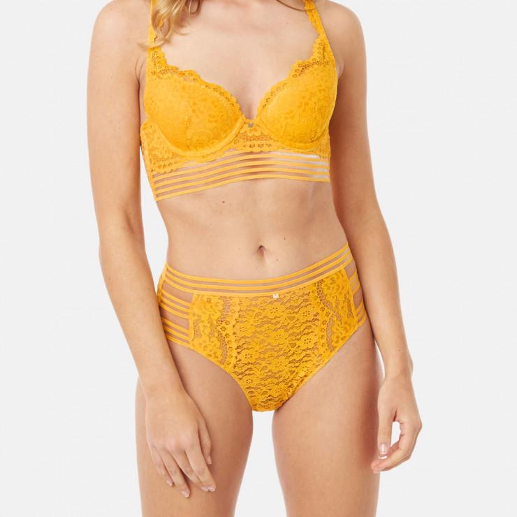 Culotte haute jaune Pétillante