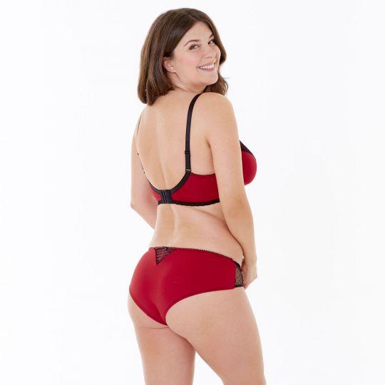 Boxer rouge/noir Tania - vue 3