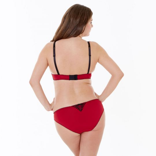 Slip rouge/noir Tania - vue 3