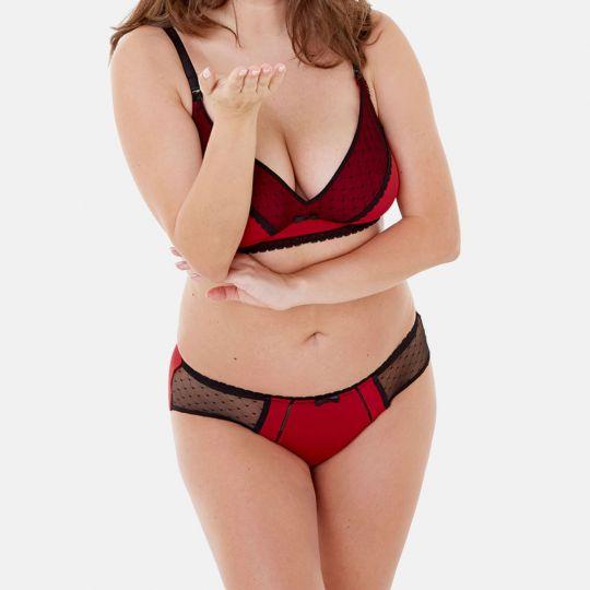 Boxer rouge/noir Tania