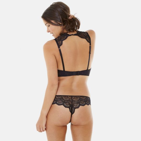 Bralette noir/or Golden Eye - vue 6