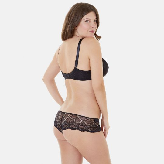 Soutien-gorge grand maintien C, D et E noir/or Golden Eye