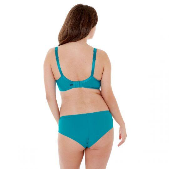 Soutien-gorge grand maintien C, D et E imprimé turquoise Elena - vue 3