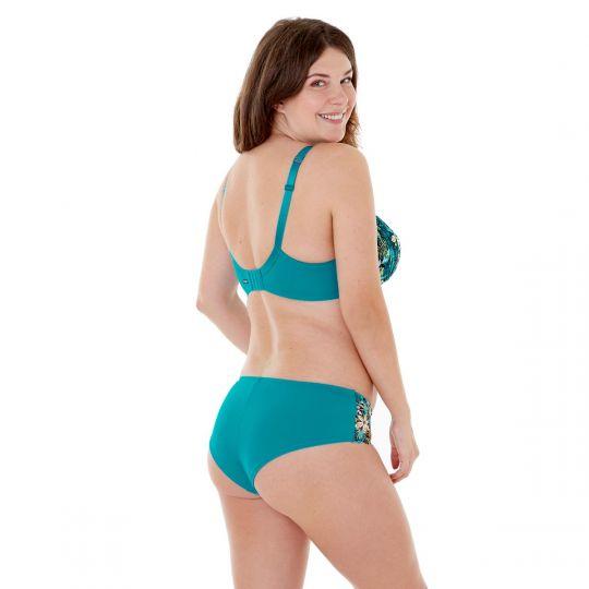 Shorty imprimé turquoise Elena - vue 5