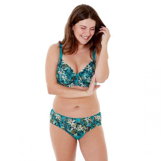 Shorty imprimé turquoise Elena - vue 4