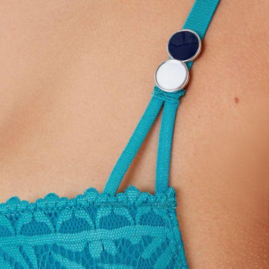 Soutien-gorge ampliforme coque moulée turquoise Check-In - vue 4