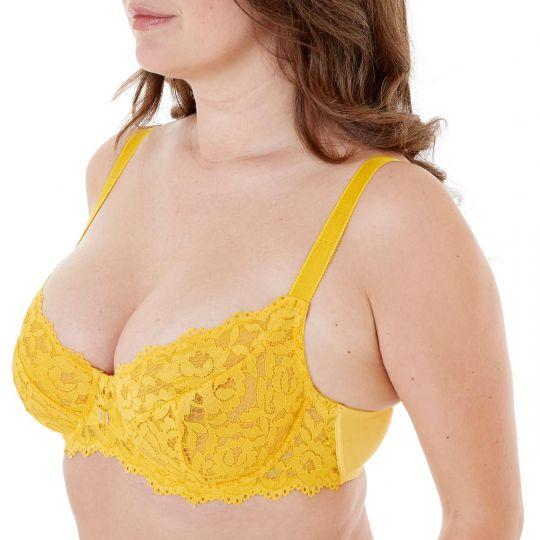 Soutien-gorge grand maintien bonnets C à F jaune Paradoxe - vue 1
