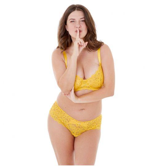 Shorty jaune Paradoxe - vue 3
