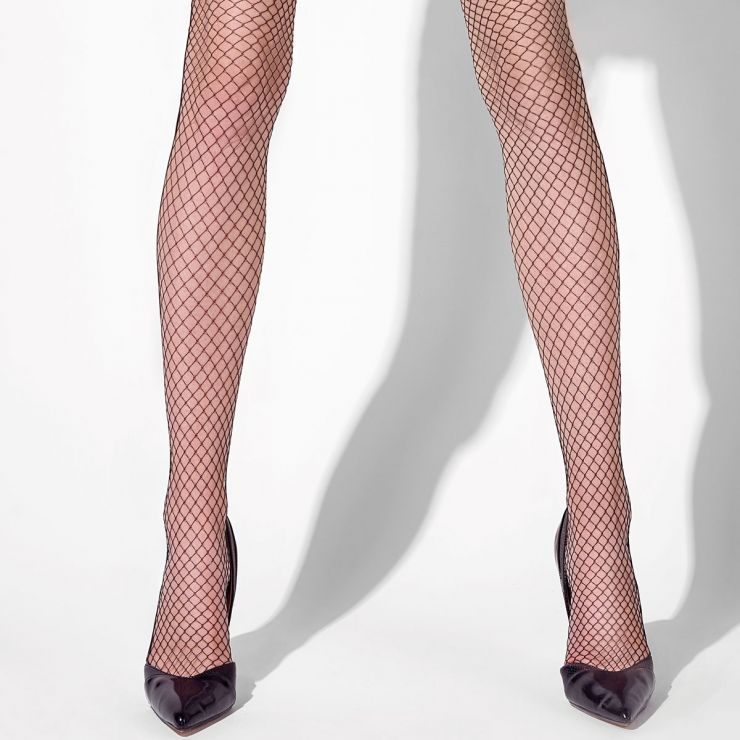 Collant noir Fishnet
