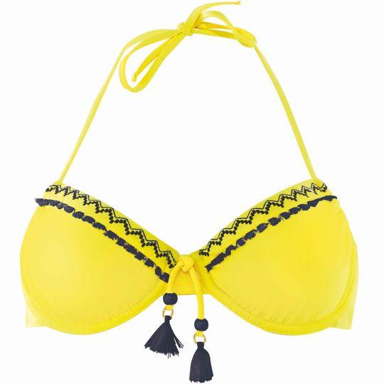 Haut de maillot à armatures jaune/marine Mambo - vue 0