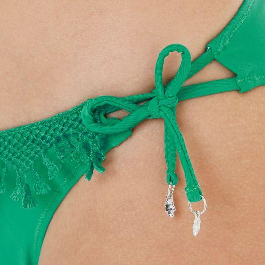 Slip de bain vert Pinède