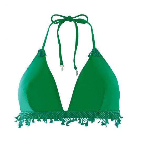 Haut de maillot triangle vert Pinède