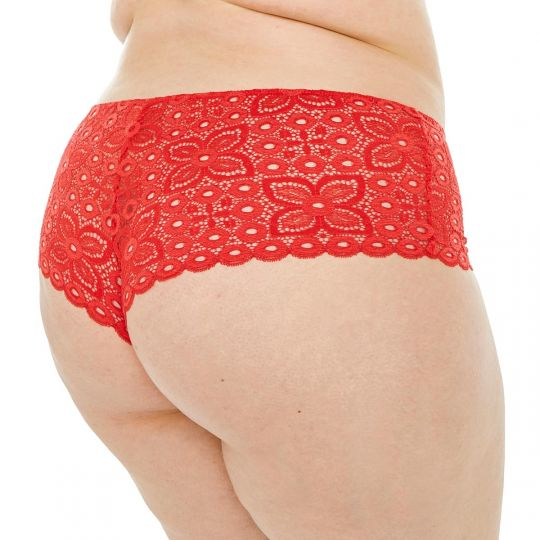 Shorty tanga coquelicot Intrépide - vue 2