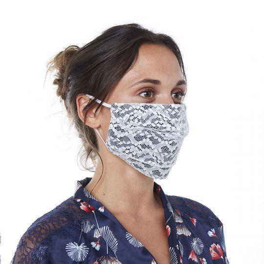 Masque en dentelle française COLOMBINE - vue 0