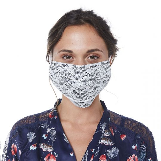 Masque en dentelle française COLOMBINE - vue 1