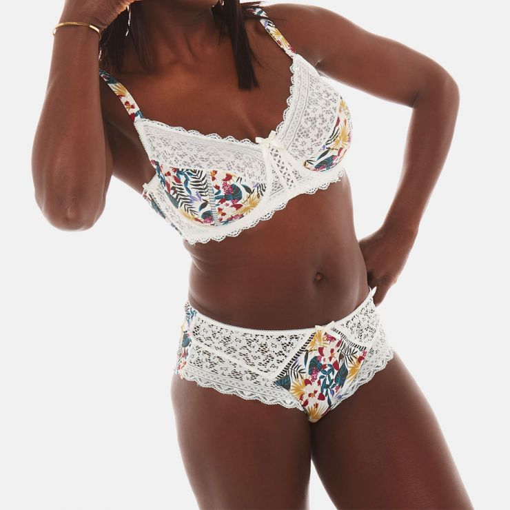 Shorty ivoire/multicolore Elena
