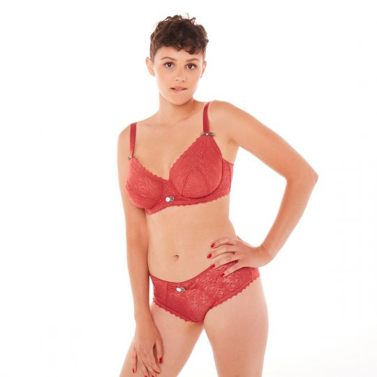 Soutien-gorge grand maintien orange Check-In - vue 2